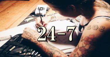 24-7の意味って何?ラッパーが良く使う言葉 HIPHOPスラング。
